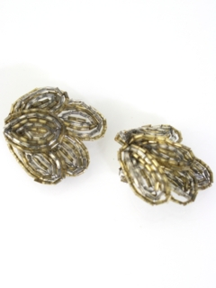 1950's Womens Accessories - Clip-Back Earrings
