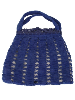1950's Womens Accessories - Hand Crochet Purse