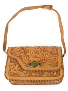 1970's Womens Accessories - Hand Tooled Leather Purse