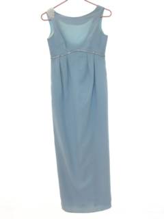 1970's Womens Cocktail Shift Maxi Dress