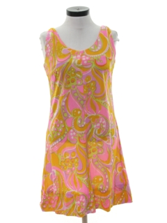 1960's Womens Hippie A-Line Dress