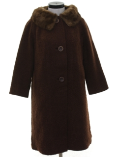 1950's Womens Wool Duster Coat Jacket