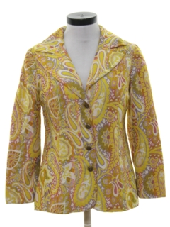 1960's Womens Mod Blazer Sport Coat Jacket