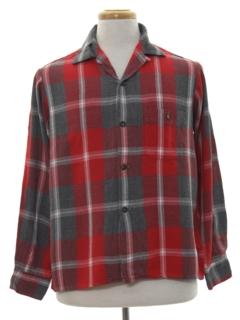 1950's Mens Gabardine Sport Shirt