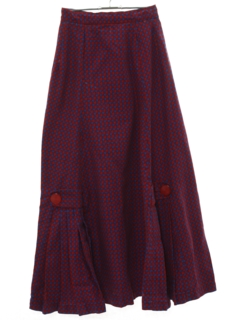 1960's Womens Hippie Maxi Skirt