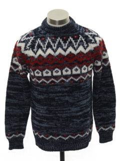 1970's Mens or Boys Ski Sweater