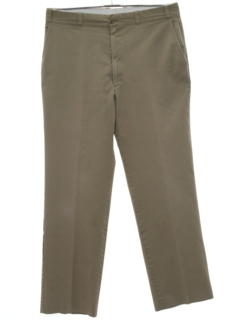 1960's Mens Mod Flat Front Khaki Pants
