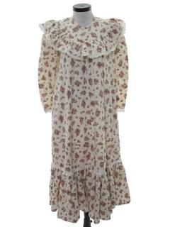 1970's Womens Hippie Muu Muu Style Dress