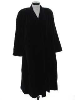 1980's Womens Velvet Duster Coat Jacket