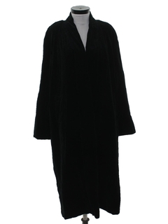 1990's Womens Velvet Duster Coat Jacket