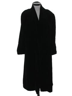 1990's Womens Velvet Duster Coat Jacket