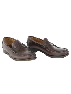 1980's Mens Accessories - Leather Penny Loafer Shoes