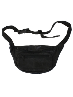 1980's Unisex Accessories -Totally 80s Leather Fanny Pack