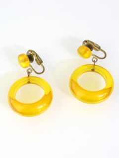 1960's Womens Accessories -Jewelry Mod Clip On Earrings