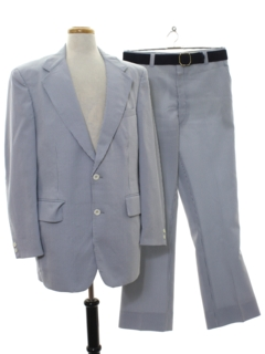 1970's Mens Matching 2 Piece Pinstripe Suit