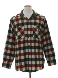 1980's Mens Wool Plaid Shirt