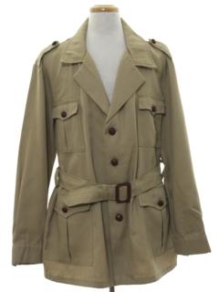 1970's Mens Safari Style Overcoat Jacket