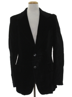 1960's Mens Velvet Blazer Sport Coat Jacket