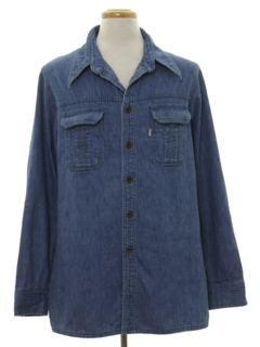 1970's Mens Denim Leisure Shirt Jacket