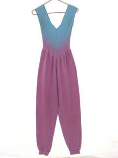 1980's Womens Totally 80s Exercise Jumpsuit