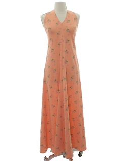 1970's Womens/Girls Maxi Halter Dress
