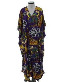 1980's Unisex Hippie Caftan Dress