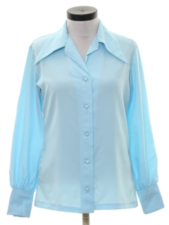 1970's Womens Mod Secretary Shirt