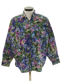 1980's Womens Totally 80s Style Shirt