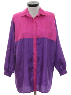 1980's Womens Totally 80s Style Oversized Shirt