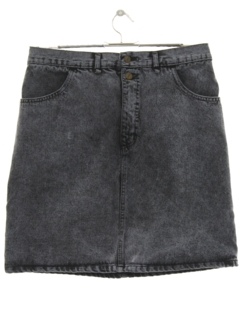 1980's Womens Totally 80s Over Dyed Mini Denim Skirt