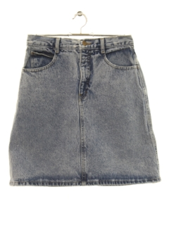 1980's Womens Totally 80s Denim Mini Skirt
