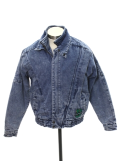 1980's Mens or Boys Totally 80s Acid Washed Denim Jacket