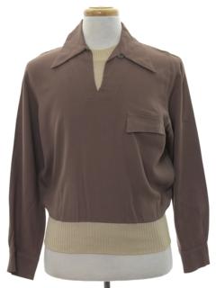 1940's Mens Gabardine Shirt