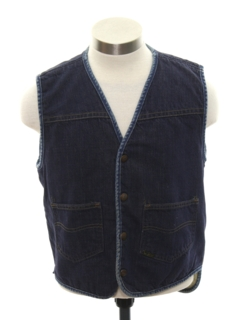 1970's Mens/Boys Denim Vest