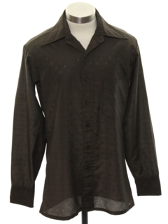 1970's Mens/Boys Subtle Print Disco Shirt