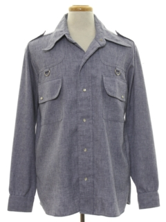 1970's Mens Chambray Leisure Shirt Jacket