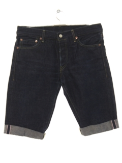 1990's Mens Rolled Leg Redline Denim Jeans Shorts