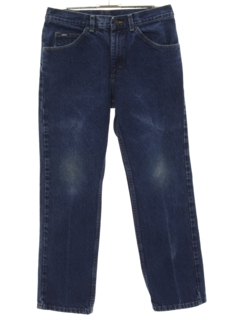 1980's Unisex Tapered Leg Denim Jeans Pants