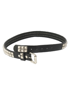1990's Unisex Accessories - Leather Punk Rock Belt