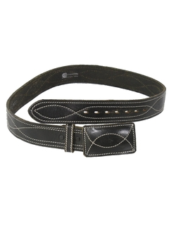 1990's Mens Accessories - Leather Hippie Style Belt