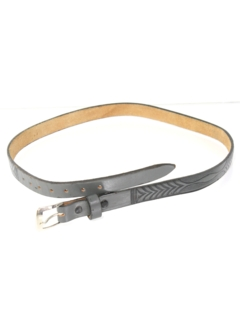 1980's Womens Accessories - Thin Leather Belt