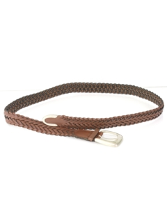 1990's Unisex Accessories - Braided Leather Belt