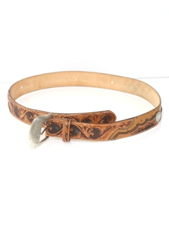 1990's Mens Accessories - Western or Hippie Style Leather Belt