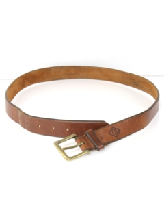 1990's Mens Accessories - Tooled Leather Belt