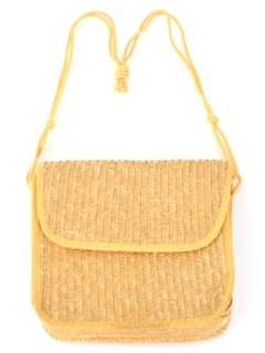 1980's Womens Accessories - Straw Purse