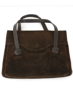 1960's Womens Accessories - Mod Suede Leather Purse