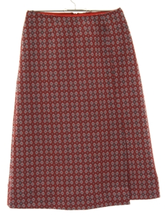 1960's Womens Mod Knit Skirt
