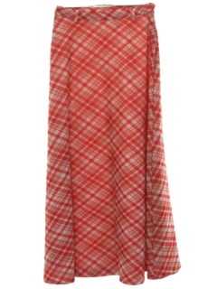 1960's Womens Knit Maxi Skirt