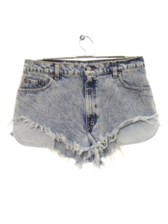 1980's Womens Levis 550 Denim Cut Off Daisy Duke Shorts
