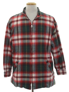 1990's Mens Wicked 90s Flannel Car Coat Jacket
